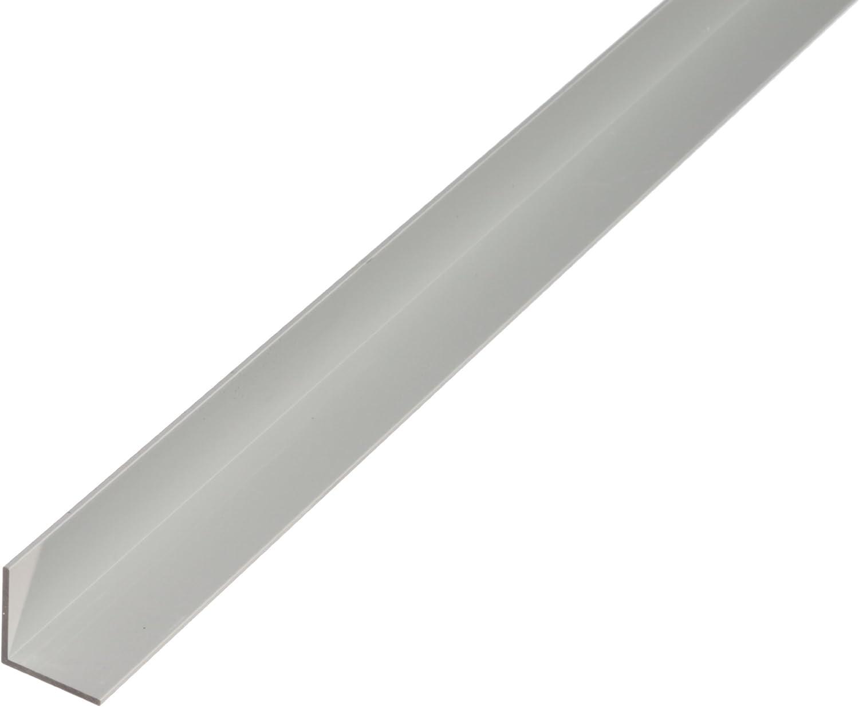 Winkelprofil aus Aluminium silberfarbig eloxiert 1000 x 9,5 x 7,5 mm