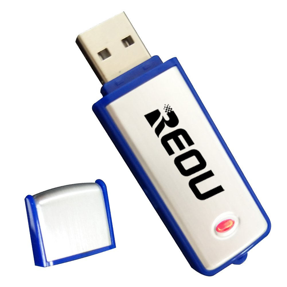 REOU Digital Voice Recorder, 8GB Sound Recorder with Sensitive Microphone, Mini Audio Recording Device for Lectures