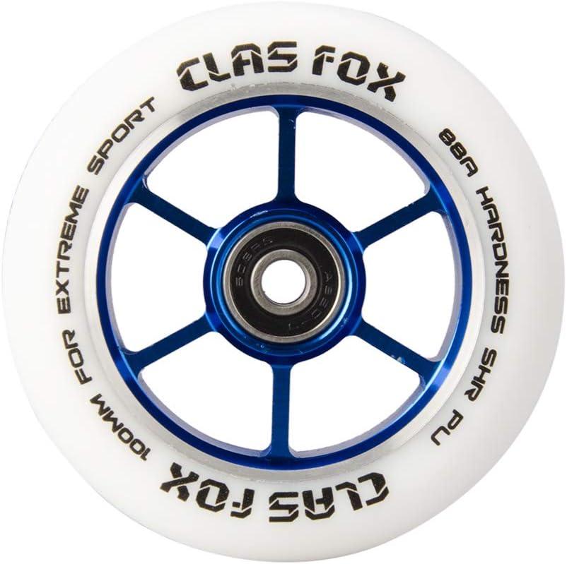 2 st/ücke CLAS FOX Pro Stunt Roller Scooter R/äder 100mm EIN Paar mit ABEC-9 Kugellager CNC Metallkern
