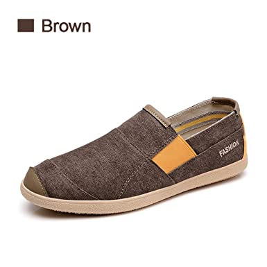 dd6b1dd65bd Men s Driving Shoes Canvas Denim Jeans Light Breathable Slip On Fashion Casual  Men s Boat Shoes Spring Loafers  Amazon.co.uk  Clothing