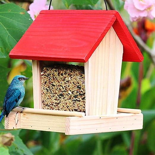 Augproveshak Comedero para pájaros de Madera Patio Aire Libre ...
