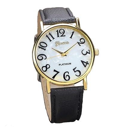 Xinantime Relojes Pulsera Mujer,Xinan Digital Retro Dial Cuero Banda Relojes de Cuarzo (Negro