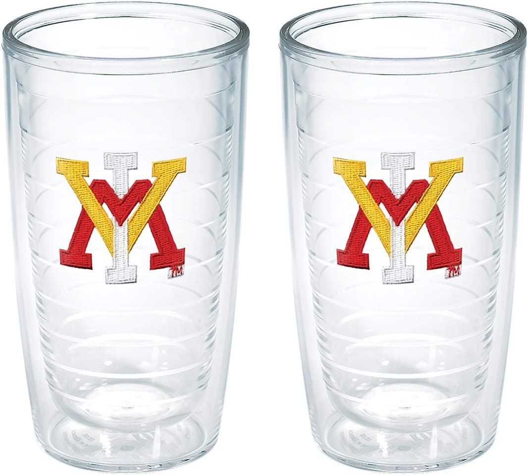 Tervis Virginia Military Institution Emblem Tumbler (Set of 2), 16 oz, Clear -