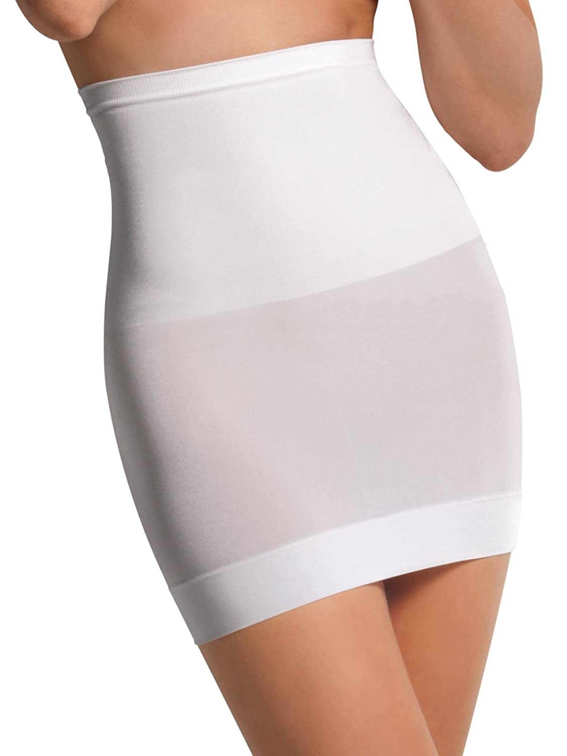 SENSI' Half Slips Women's Firm Control Shaping Underskirt high Waist Seamless Made in Italy