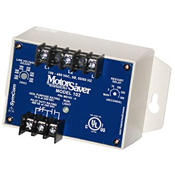 SymCom MotorSaver 3-Phase Voltage Monitor, Model 102-600 ... on