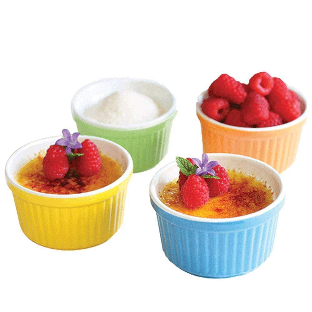 Stoneware Ramekins - Colorful, Set of 4, 5 oz. Uno Casa
