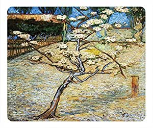 Impressionism Personalized Design Rectangular Mouse Pad Peach Flower