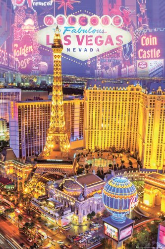 Las Vegas Nevada Collage Poster - 91.5 x 61cms (36 x 24 Inches)