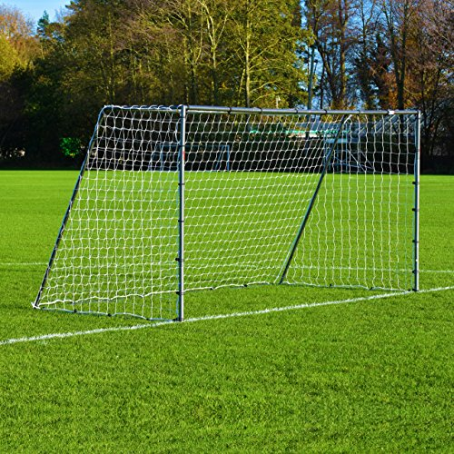 Soccer Goal – [The Strongest Steel Goal Post & Net Package with Soccer Goal Target Training Sheet] (12 x 6 FORZA Steel42 Goal) ()