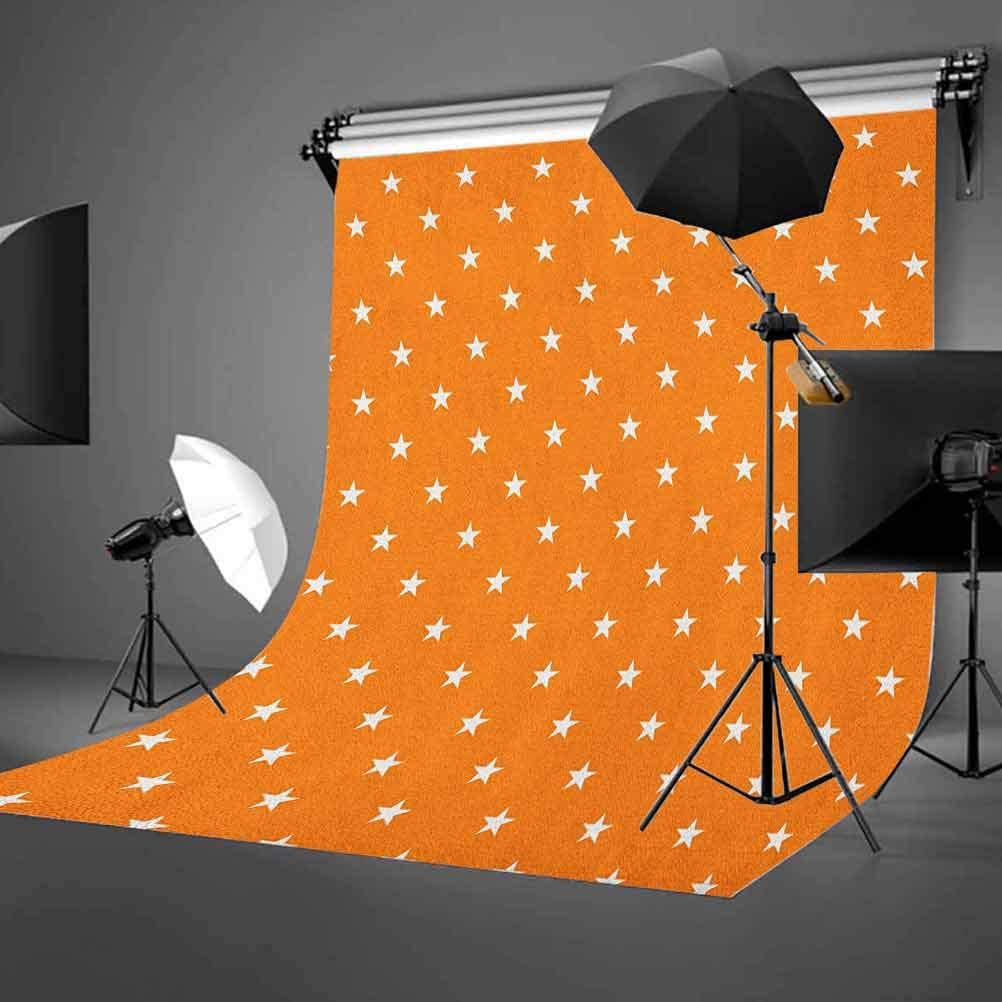 7x10 FT Dragonfly Vinyl Photography Backdrop,Bird Like Bugs Flying on Orange Marigold Abstract Geometrical Digital Backdrop Background for Party Home Decor Outdoorsy Theme Shoot Props