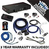 Kicker 44KXA24001 Car Audio Sub Amp KXA2400.1 & 1/0 GA Amplifier Accessory Kit - 3 Year Warranty!