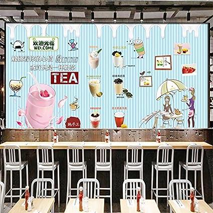 Tantoto 3D Papel pintado Papel Tapiz 3D Bebidas Innovadoras Bebidas Tienda Mural Decorativo Dulce De Leche