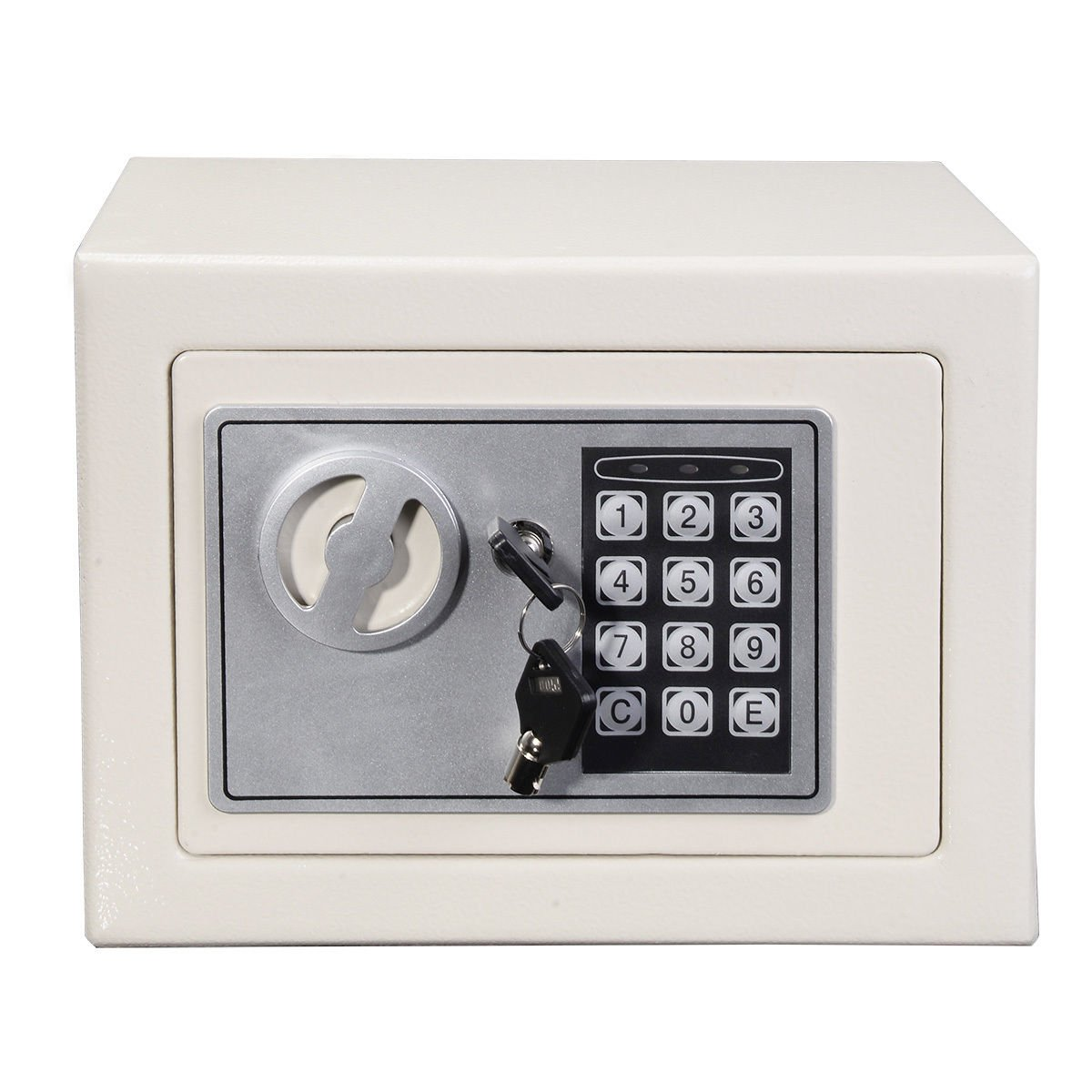 shindak新しいSmallホワイトデジタル電子セーフボックスキーパッドロックホームオフィスホテルガン B01HRLHCH8