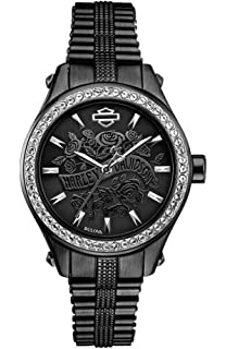 Amazon.com  Harley-Davidson Women s Spoke Pattern Dial Wrist Watch ... 4fe36ed9788