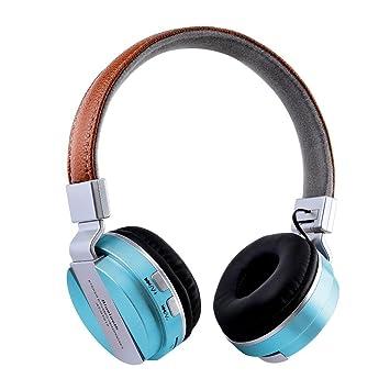 Asiright - Auriculares inalámbricos plegables con Bluetooth para radio FM y tarjeta TF