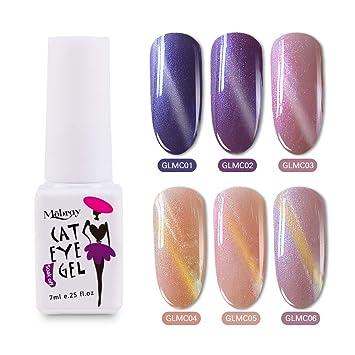Shiny Cat Eyes Gel Polish Kit 6 Colors Home Gel Manicure 7ml Glitter UV Led  Nail Polish New Start Set-Mobray