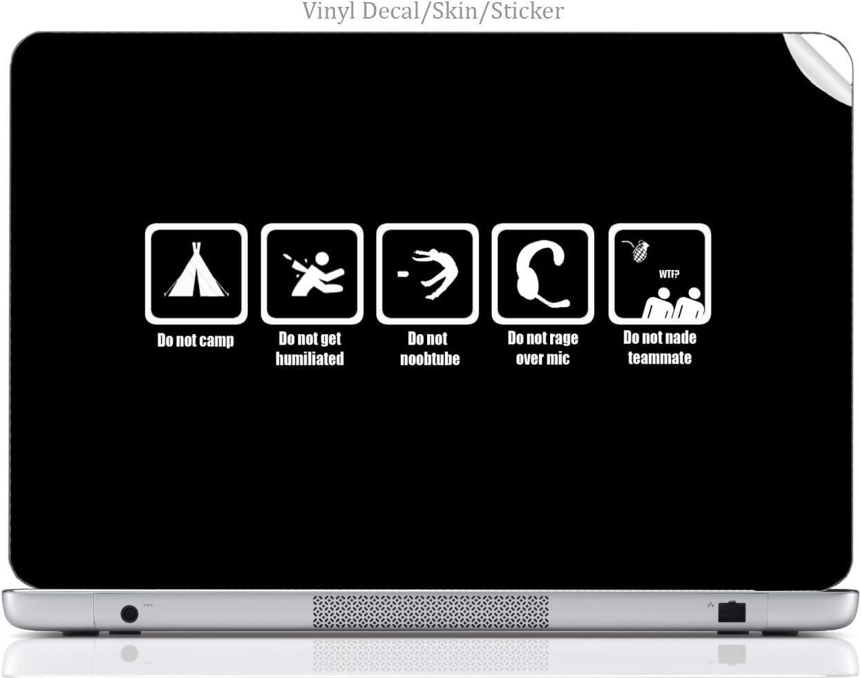 Laptop VINYL DECAL Sticker Skin Print Gentlemen's Guide To Online Gaming Art fits Ativ Book 9 (15.6in, 2014)