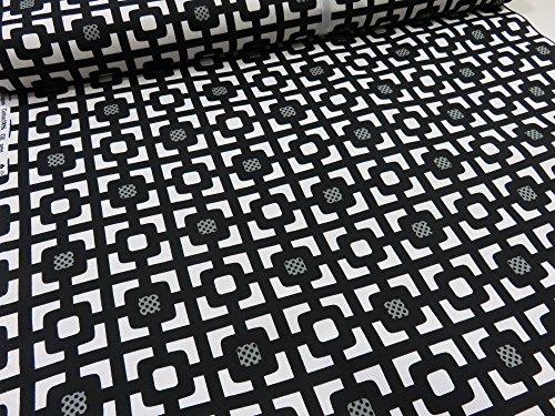 北欧風モノトーンシリーズ ブロック ブラック オックス生地 |生地|布|コットン|綿|エプロン|インテリア|カバー|シーツ|カーテン|目隠し|実写|そっくり|の商品画像