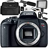 Canon EOS Rebel T7i DSLR Camera (Body Only) 9PC Accessory Bundle – Includes 32GB SD Memory Card + MORE - International Version (No Warranty)