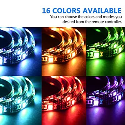 AKNMSOY 10M(32.8ft) LED Strip Light,Flexible Color Changing Light Strip Tape Kit with 5050RGB 600Leds,44 Keys IR Controller and 24V Power Supply for Christmas,Party,Wedding,Indoor Decoration …