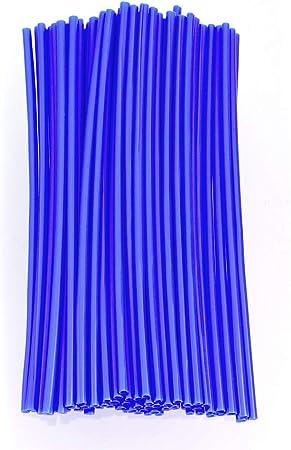 Color Tree 72 Stücks Speichencover Speichen Skin Guard Wraps Felgenwickel Für Universal Motorrad Motocross Dirtbikes Fahrrad Auto