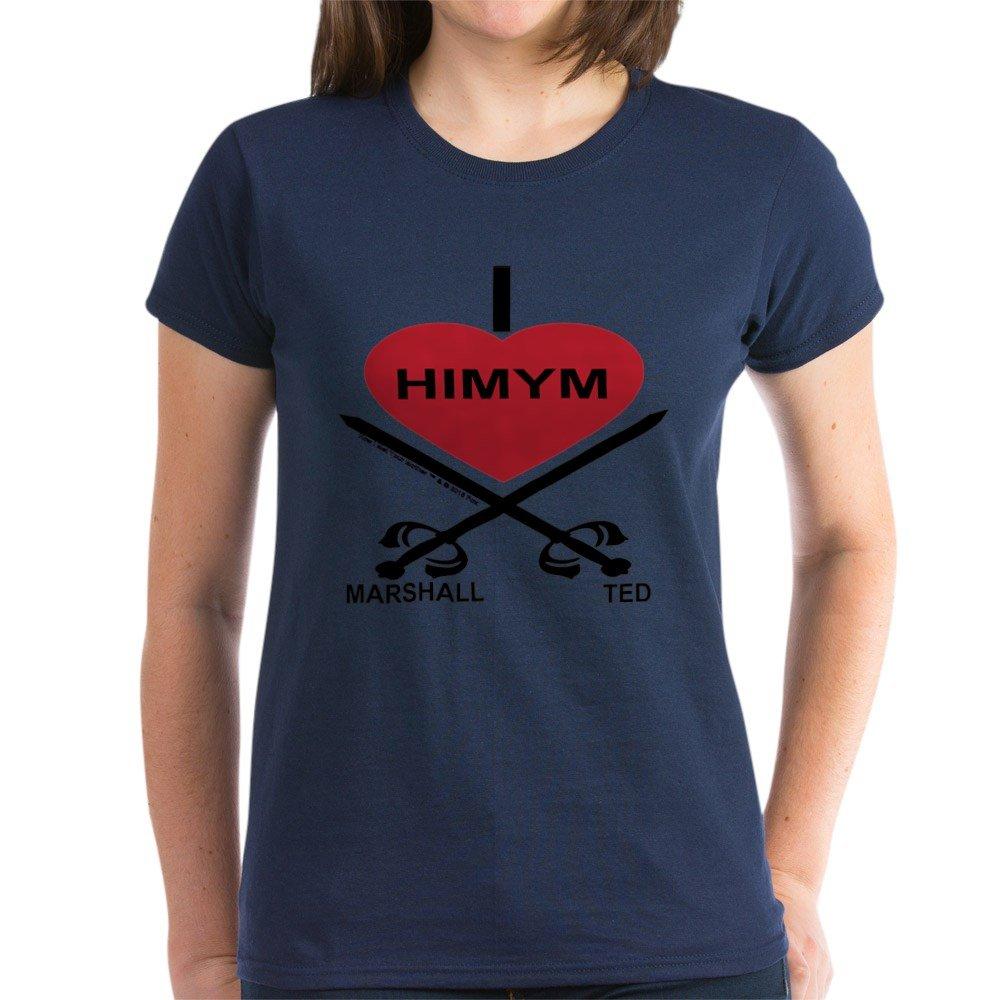 Amazon.com  CafePress - I Love HIMYM T-Shirt - Womens Cotton T-Shirt   Clothing e989802a2