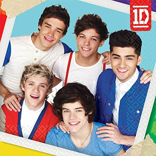Amscan One Direction Small Napkins (16ct) -