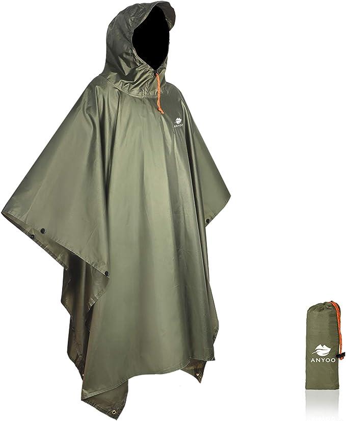 Best Hunting Rain Gear: Anyoo Waterproof Women's Rain Poncho