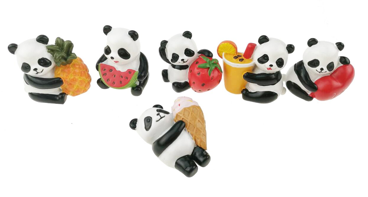 Pack of 6 Adorable Greedy Panda Resin Refrigerator Magnet Fridge Accessory Leave A Note Kitchen Home Decoration Gift
