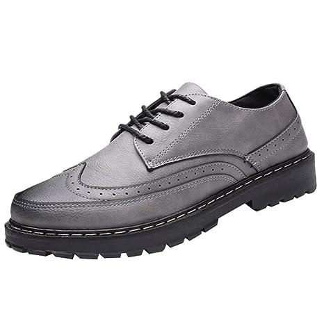 Zapatos Nauticos Barco Marrones para Hombres ZARLLE Mocasines Cómodos Hombre,Adecuado para El Trabajo y el Uso Diario, Zapatos de Cordones Oxford, ...
