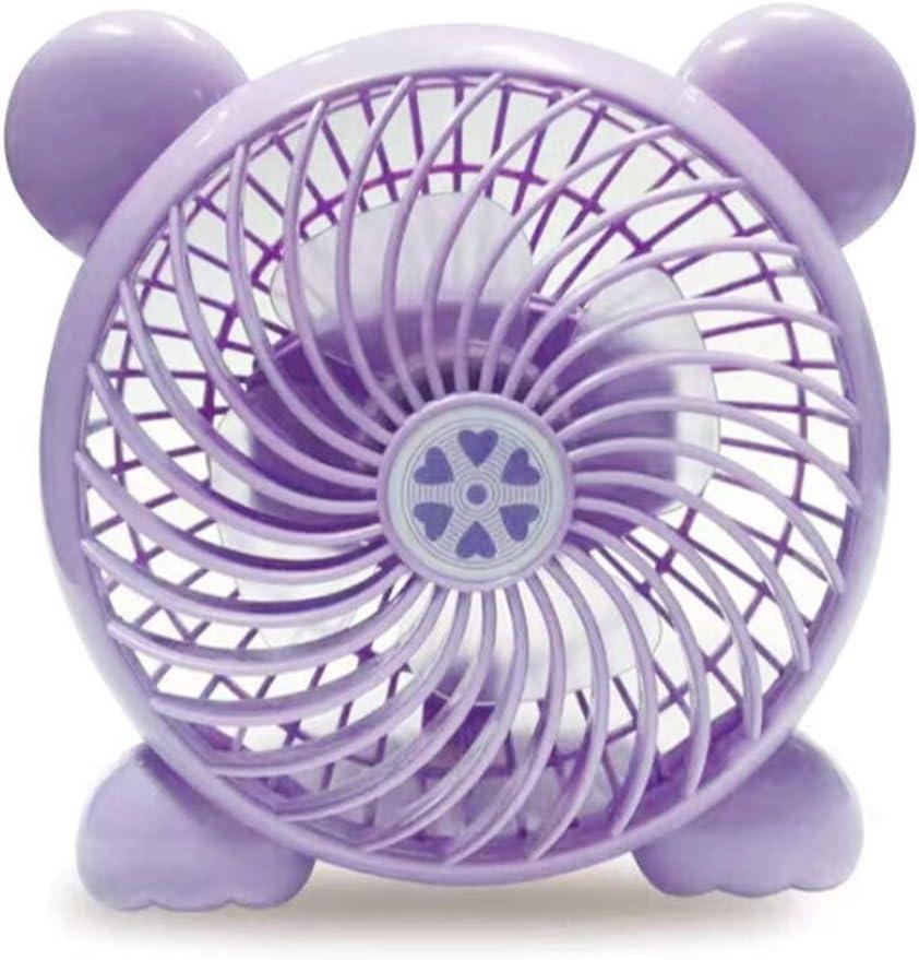 HOUER USB Power Supply Desktop Desktop Mini Fan Support USB Multi-Function Interface 360 Wind Direction Adjustment Blue Pink Purple