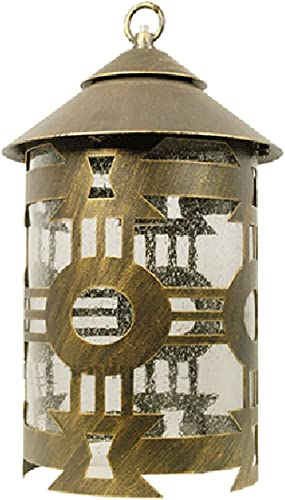 ETOPLIGHTING Classico Collection Oil Rubbed Bronze Finish Outdoor Pendant Hanging Lantern Light w Seeded Glass APL1151