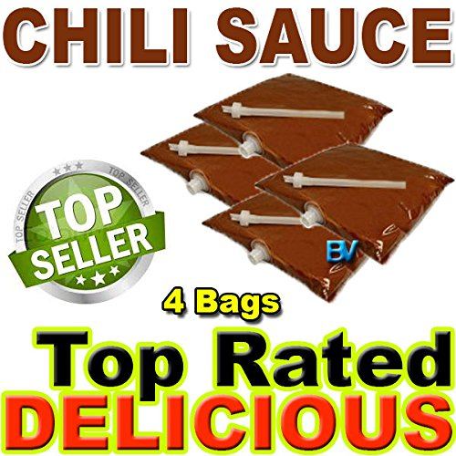 El Nacho Grande Bag - Chili Sauce for dispenser machine (106 oz, 4 bags) Gold Medal El Nacho Grande