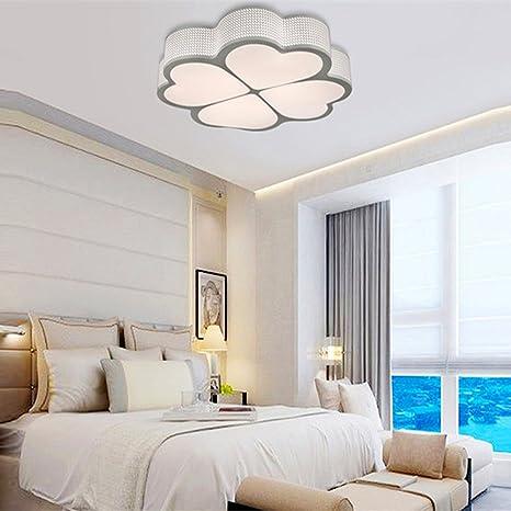 HomeLava Lámpara de Techo con 4 LED Tira de Luz /Mando a Distancia / Luz regulable para Salón / Dormitorio/ Cocina/ Oficina /Hotel,Blanco