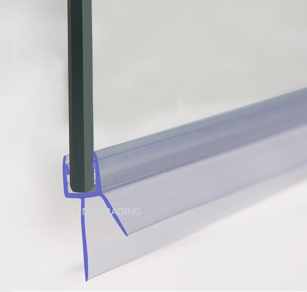 Daka - Junta para mampara de ducha (para cristal de 4-6 mm, espacio entre junta de 20 mm), color transparente: Amazon.es: Bricolaje y herramientas
