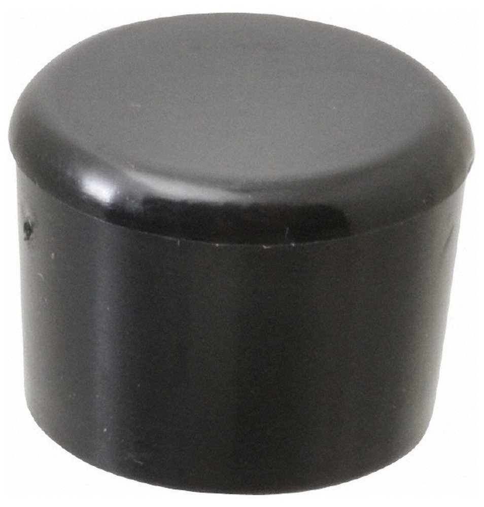 5/8'' ID Round Head Cap, Polyethylene, Black 100 Pack