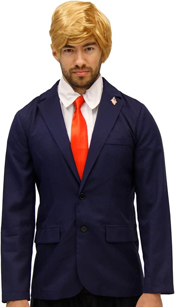 Républicain Trump Costume Veste, cravate, Perruque et broches ...