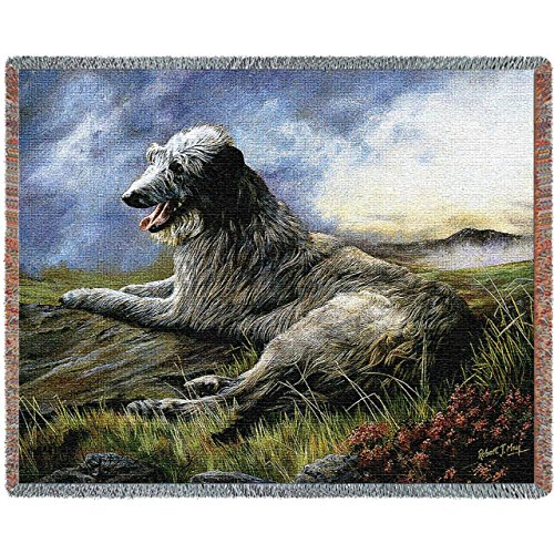 Pure Country 1933-T Scottish Deerhound Pet Blanket, Various Blended Colorways, 53 by 70-Inch