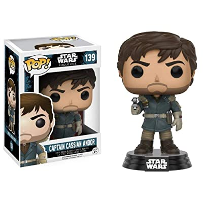 "Funko POP! 10451 ""Star Wars Rogue One Captain Cassian Andor Bobble Toy: Toys & Games"