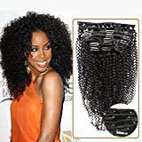 Choshim Hair 8A Clip In Human Hair Extensions Brazilian Virgin Hair Kinky Curly Clip in Extensions for Black Women 9pieces/set 24inches
