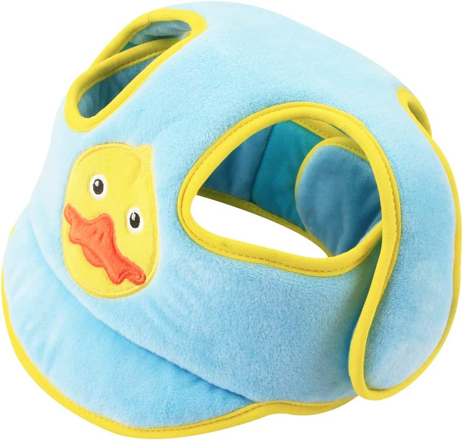 Blue KAKIBLIN Baby Safety Helmet Infant Head Protector Breathable Headguard Adjustable Safety Protective Cap for Toddlers Learn to Walk