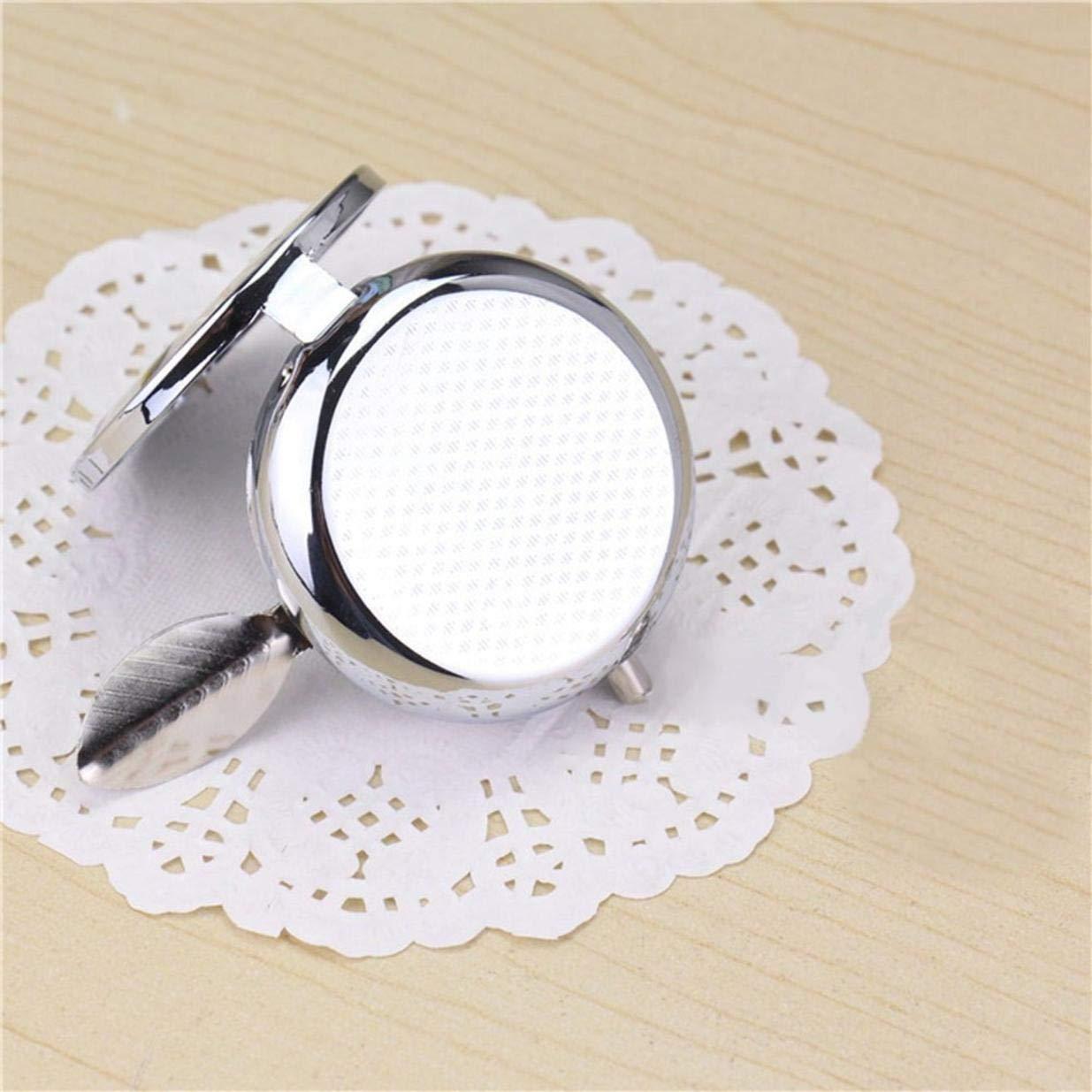 Cendrier de Poche Portable Arbre de Vie en Acier Inoxydable avec Porte-cl/és Circulaire d/écoratif avec /étui de Rangement