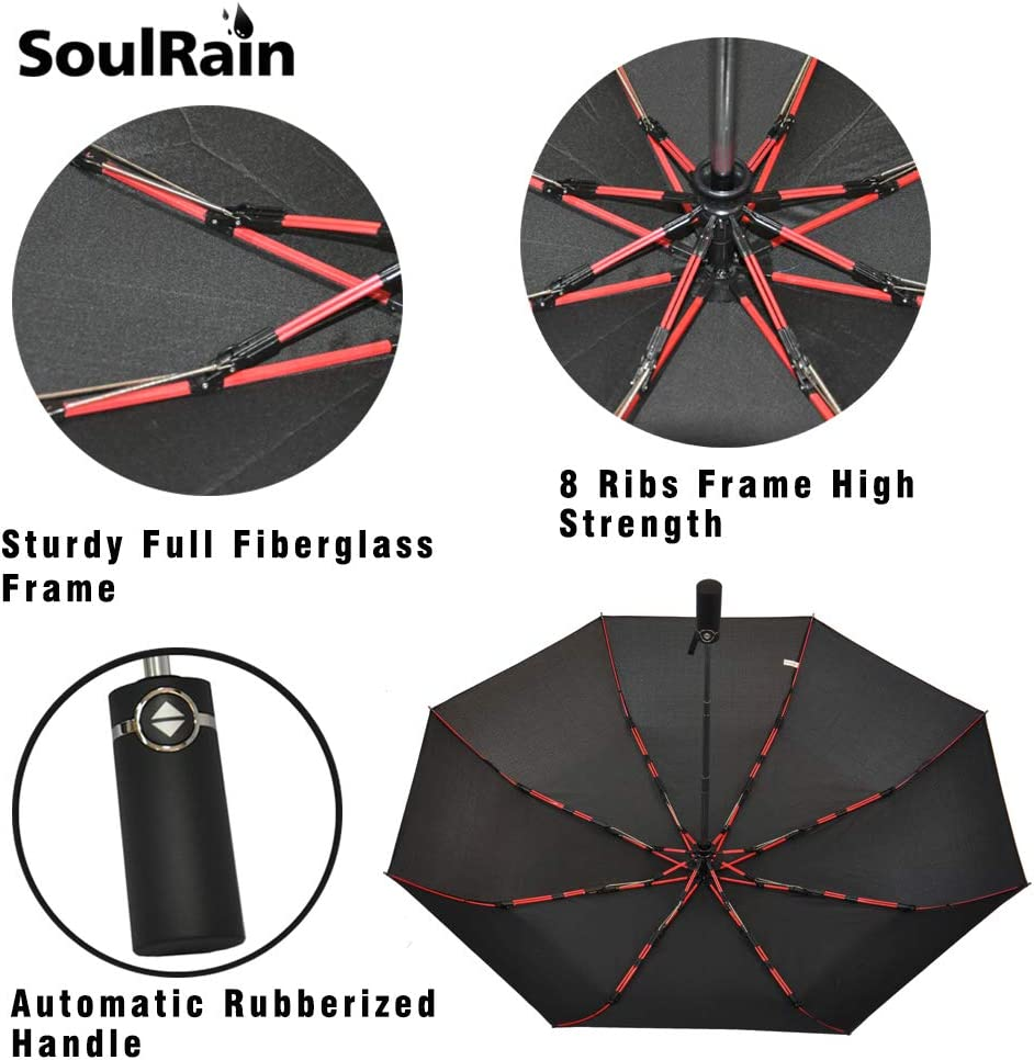 Automatic Opening and Closing,Waterfall River Landscape Natural Waterfall Water Flow Track,Windproof RLDSESS Waterfall Outdoor Umbrella Ladies Men 42 Inches 10 Ribs Rainproof