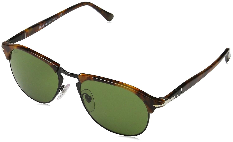 Persol Herren Sonnenbrille 0PO8649S, Braun (Havana/Green), 56