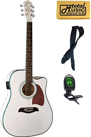 og2ce Oscar Schmidt guitarra acústica/eléctrica, Washburn, sintonizador, 4 EQ, cristiana: Amazon.es: Instrumentos musicales
