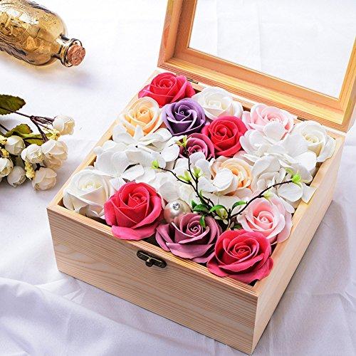 Handmade roses/the rose gift box /soap flower drawer box-2012cm-K