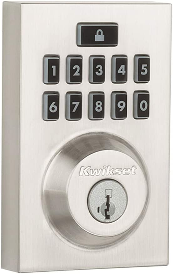 Kwikset 99130-008 Smartcode 913 Contemporary Electronic Deadbolt Featuring Smartkey In Satin Nickel