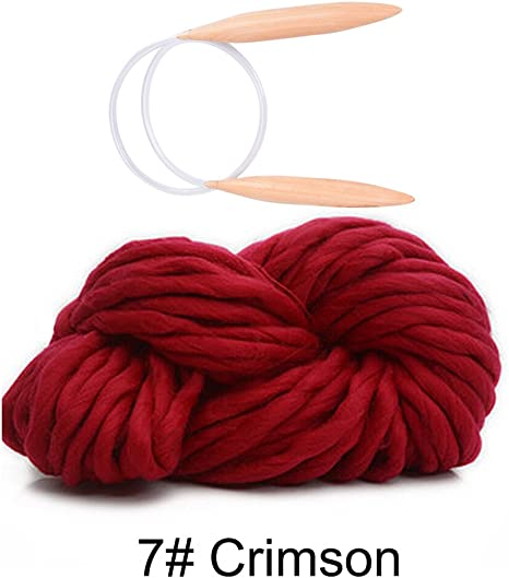 1lot Hand Knitting Blanket Hats Super Thick Chunky Yarn Roving Bulky Yarn