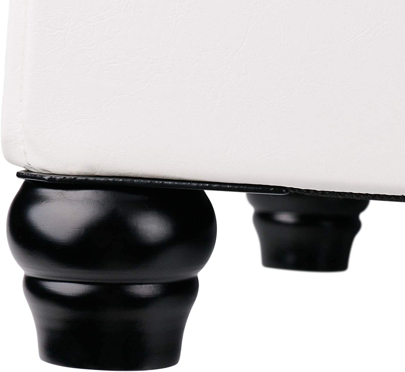 Leader Accessories Sitztruhe 75L Stauraum faltbar Sitzbank Hockerbank Polsterhocker Spielzeugtruhe abnehmbar Deckel Truhenbank 76.5x37.5x38.5cm Grau