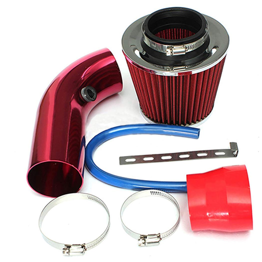 Fansport Kit di Aspirazione Aria Fredda Filtro Universale per Aspirazione Aria Fredda Kit di Induzione in Alluminio Kit Tubo Flessibile